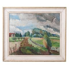 Framed Oil Landscape Painting