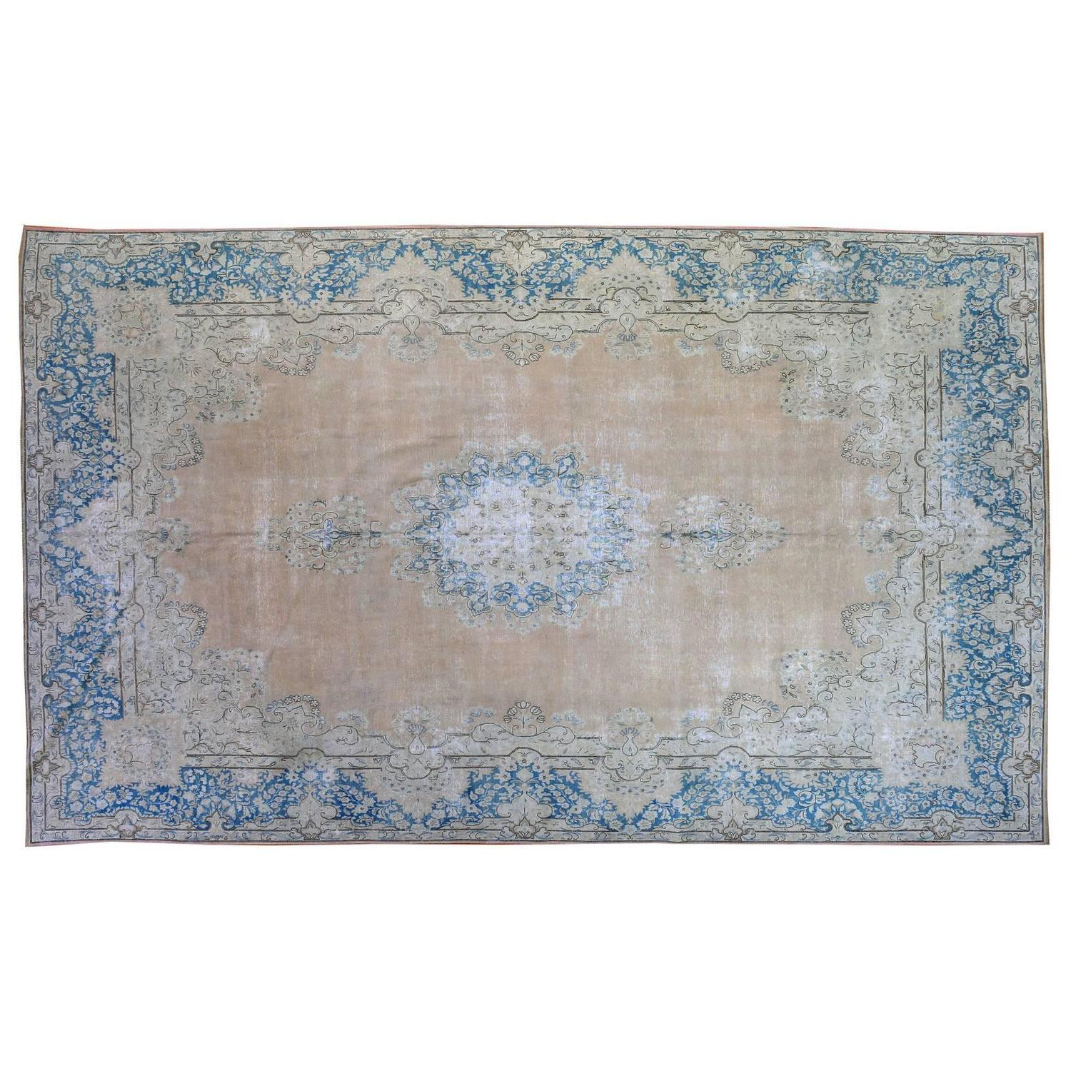 Vintage Persian Overdyed Rug For Sale At 1stdibs
