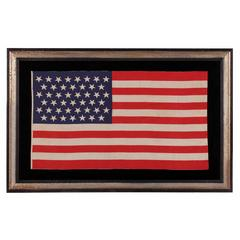 "45 Star Parade Flag with Stars in a ""Dancing"" or ""Tumbling"" Pattern"