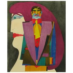 "Richard Lindner Lithograph Titled ""Couple 1"""