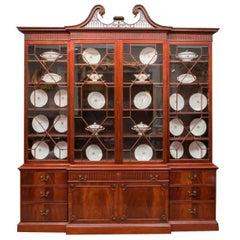 18th Century George III Mahogany Breakfront Bookcase