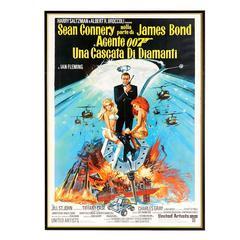 "Original 1971 Italian James Bond Movie Poster ""Diamonds Are Forever"""