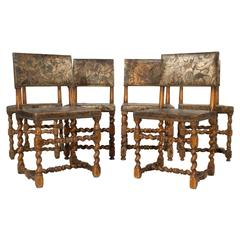 Set of Six Baroque Style Side Chairs