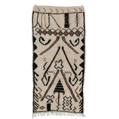 Berber Moroccan Rug with Modern Tribal Design in Neutral Colors