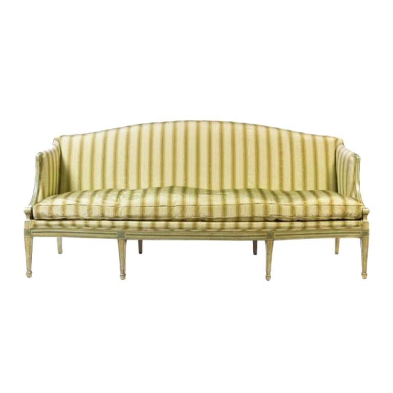 19th Century Italian Neoclassical Sofa With Painted