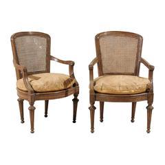 Pair of Italian 18th Century Wooden Armchairs