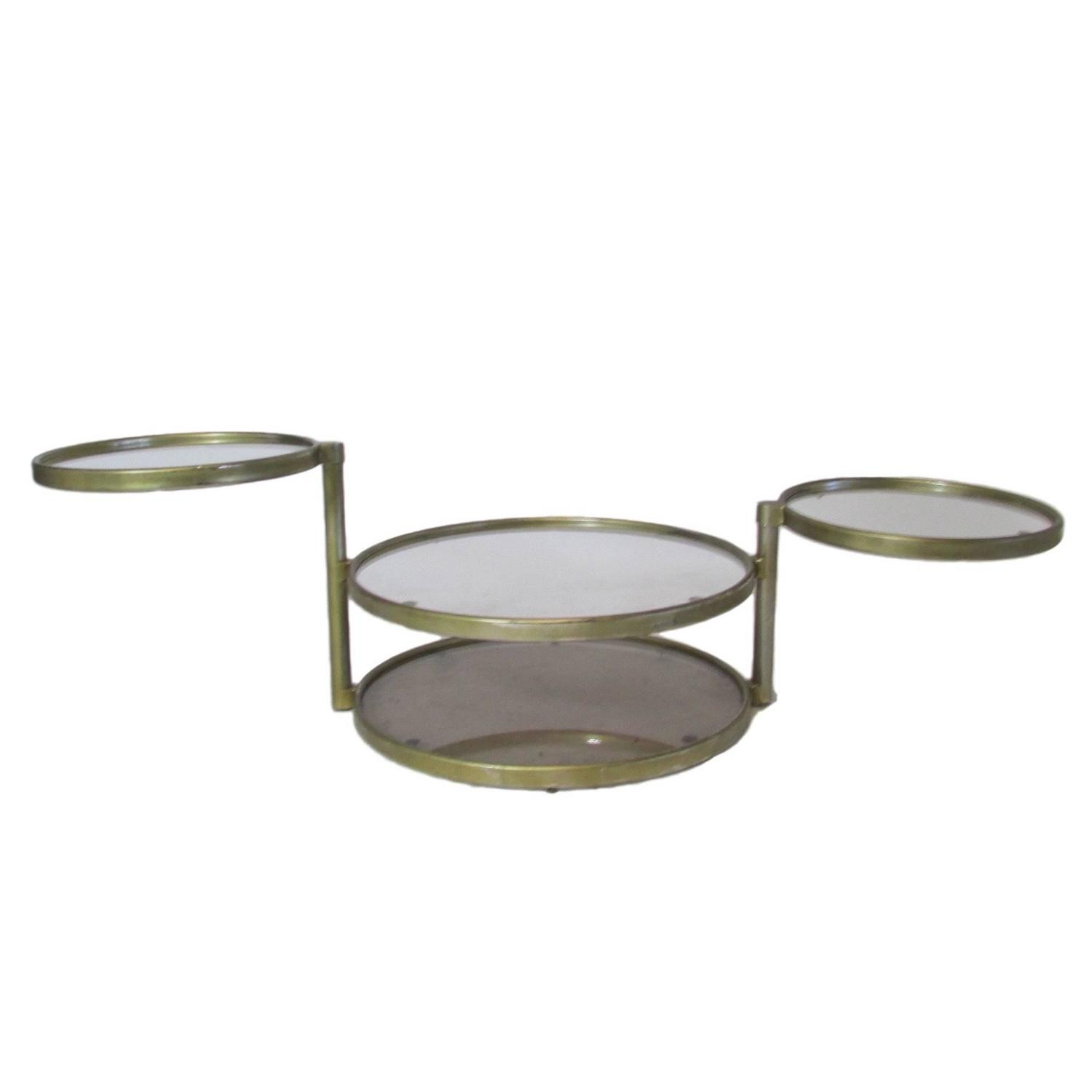 Circular four tiered swivel coffee table at 1stdibs for Swivel coffee table