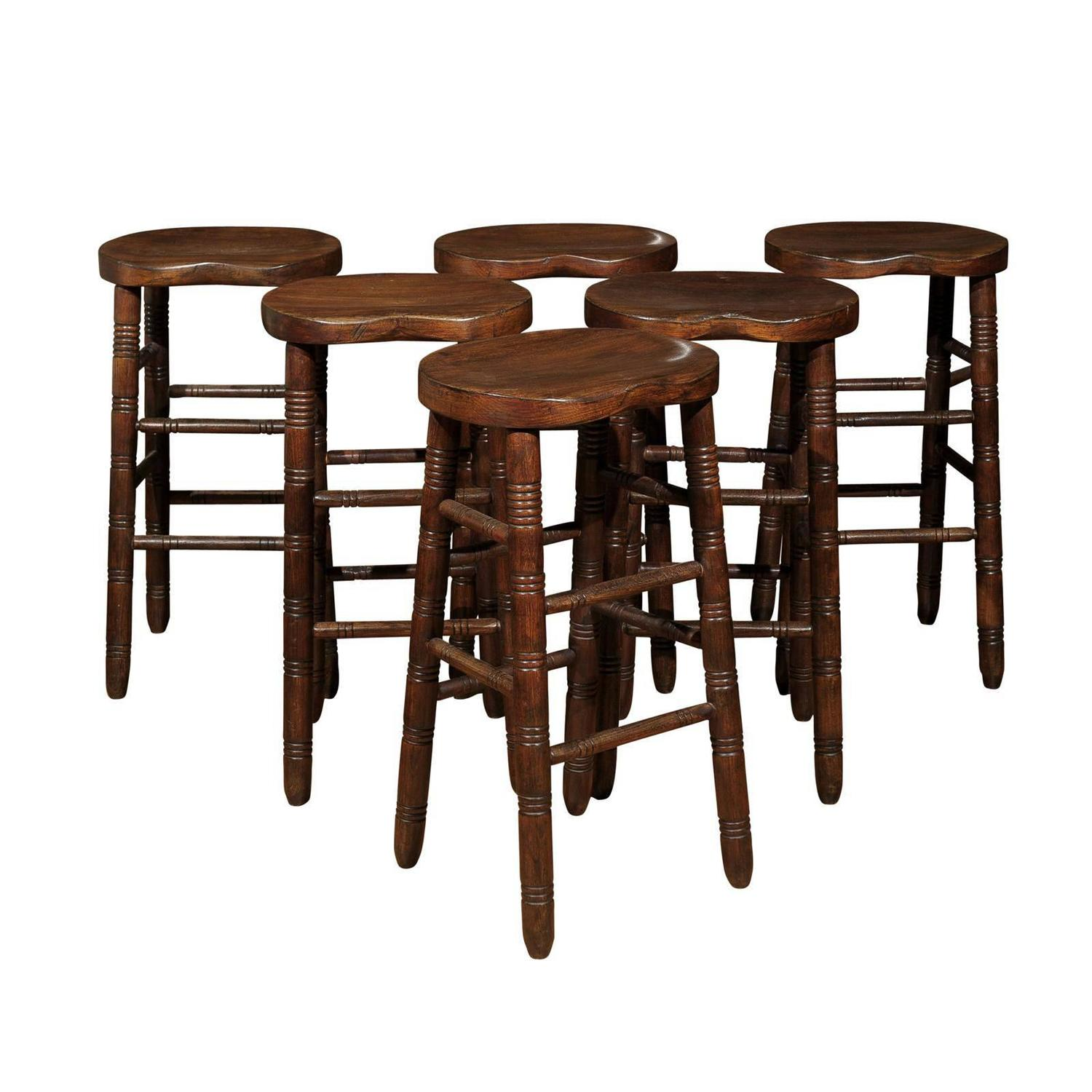 Set Of Four Victorian Stools Circa 1890 For Sale At 1stdibs