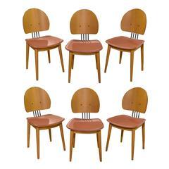 Set of Six Modern Italian Chairs