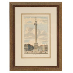 """French Engraving """"The Monument"""""""