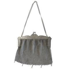 Sterling Silver Victorian Chain Mesh Purse