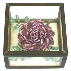 "Unusual ""Stamp"" Rose in Box"
