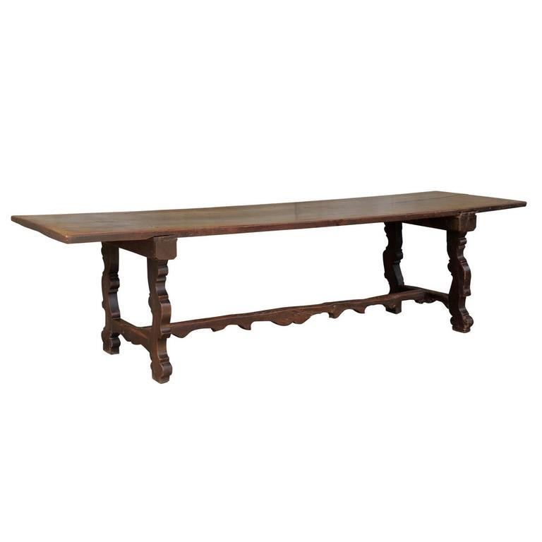 18th Century Italian Walnut Dining Table