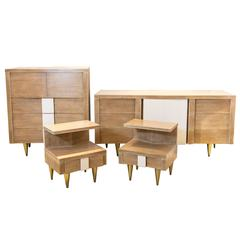 Vanleigh Four-Piece Bedroom Set in the Manner of Gio Ponti