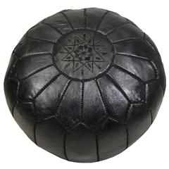 Handmade Moroccan Leather Foot Stool or Pouf