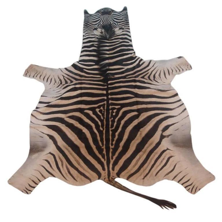Vintage Zebra Skin Rug For Sale