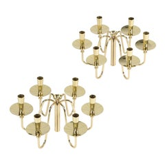Pair of 1950s Brass Tommi Parzinger Candelabra