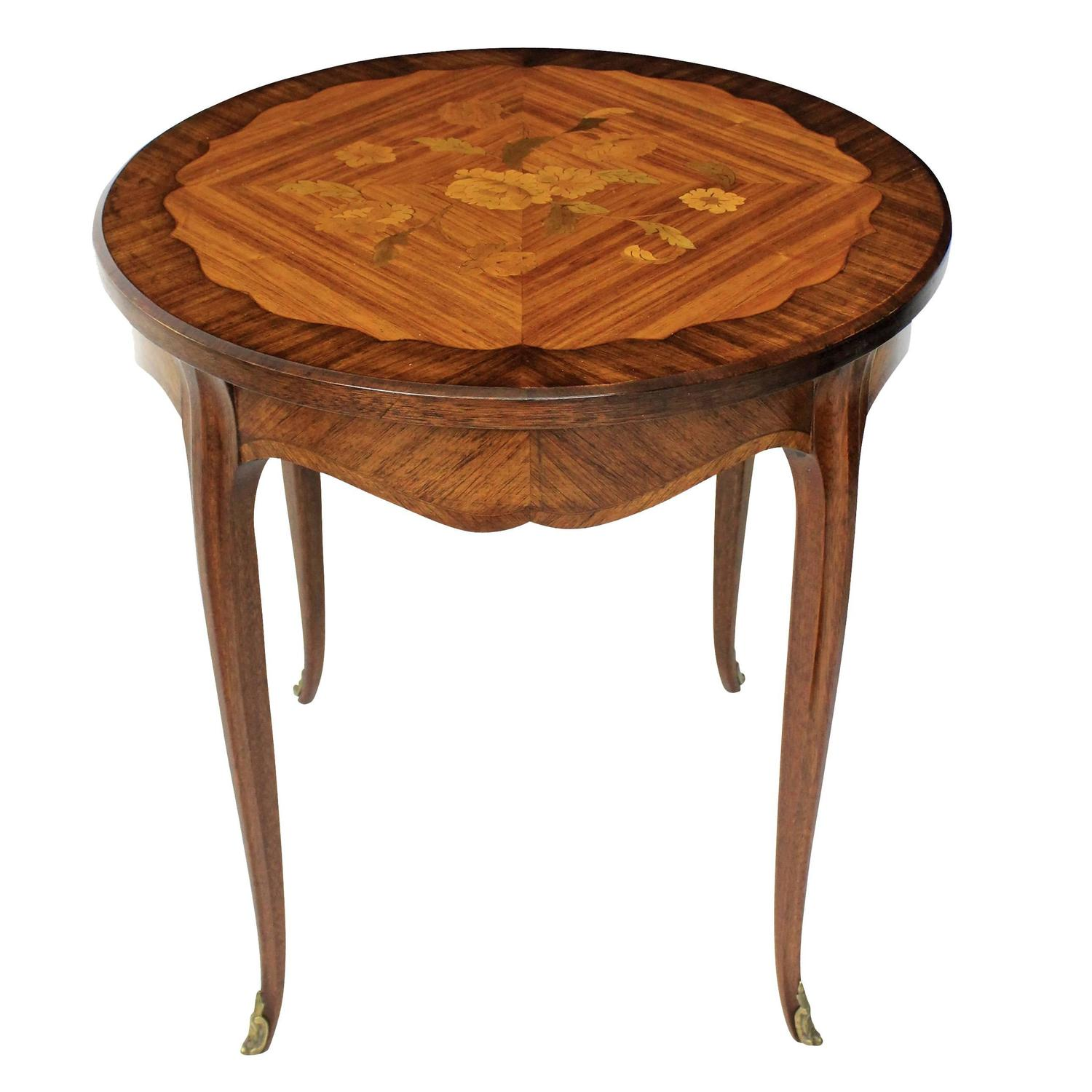 French marquetry side table at stdibs