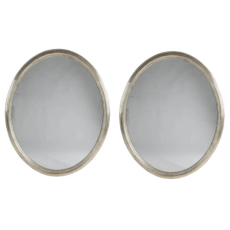 Pair of 19th Century Silver Gilt Mirrors
