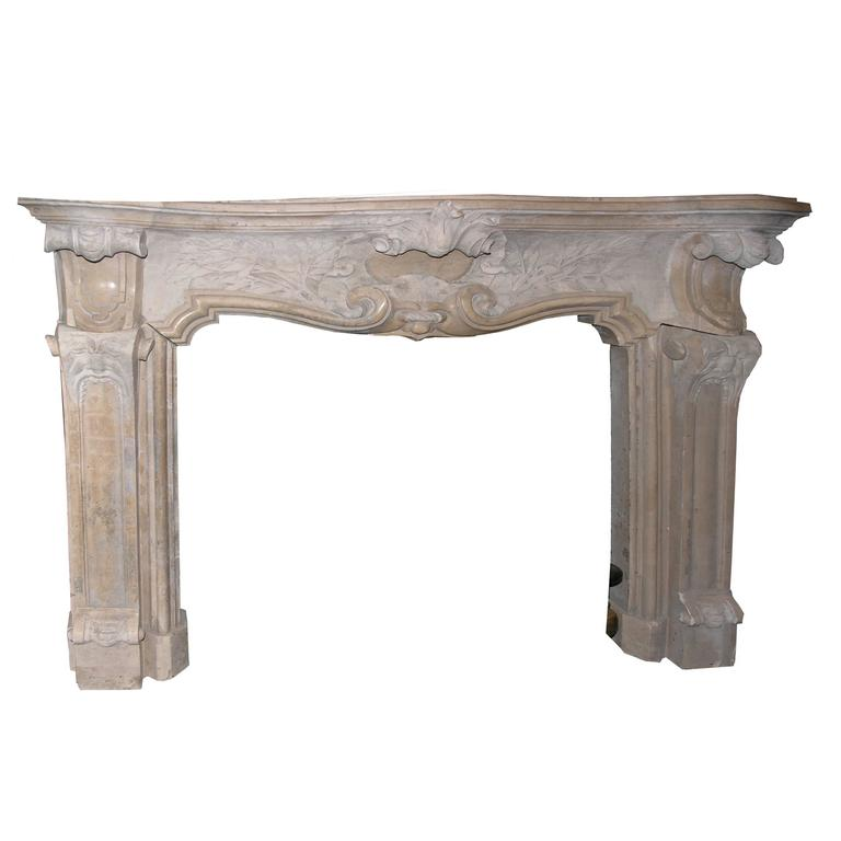 Antique botticino 39 s marble fireplace mantel for sale at for Marble mantels for sale