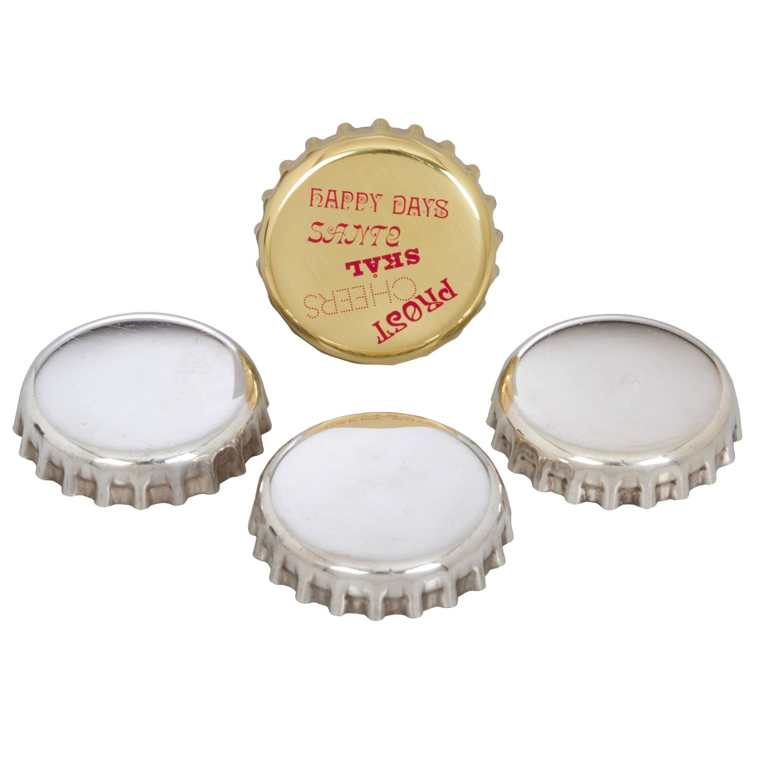 Set Of Four Georg Jensen Bottle Cap Openers For Sale At