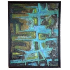 Large Textured Abstract Oil Painting by Robert Berger