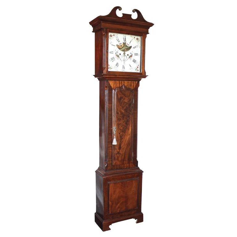 English Regency Tall Case Clock For Sale