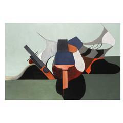 """Danièle Perré """"Sous l'horizon des mers"""" Painting"""