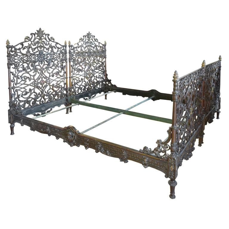 Pair Of Cast Iron Italian Beds At 1stdibs