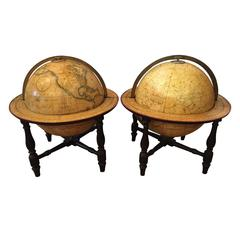 Pair of 19th Century Cary's Globes