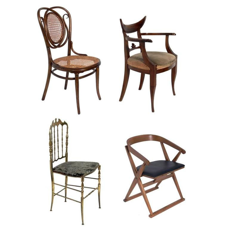 Selection Of Hollywood Regency Desk Chairs For