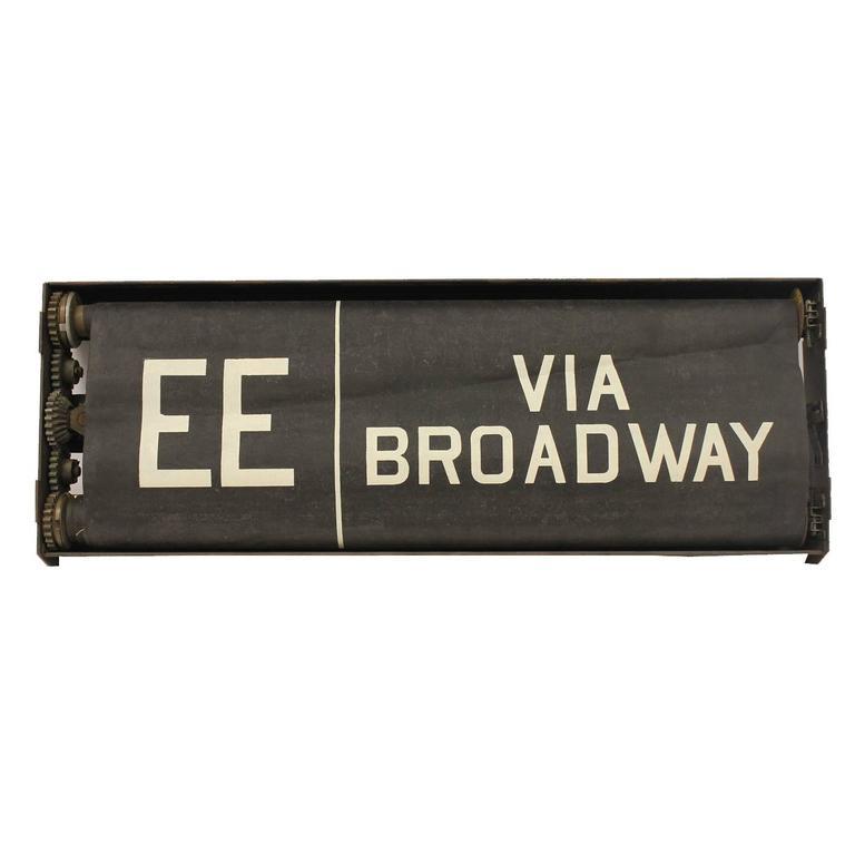 Early 20th Century New York City Train Destination Sign