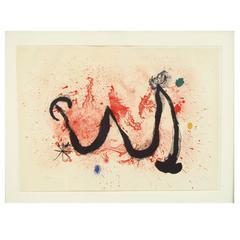 """""""La Danse Du Feu"""" 1963 Signed Original Joan Miro' Lithogragh"""