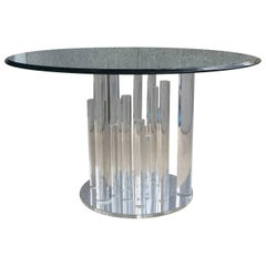 Charles Hollis Jones Lucite Dining Table