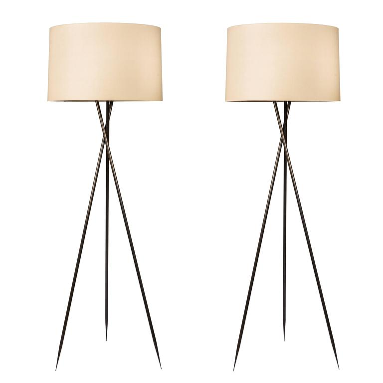 Monumental Bronze Floor Lamps 1