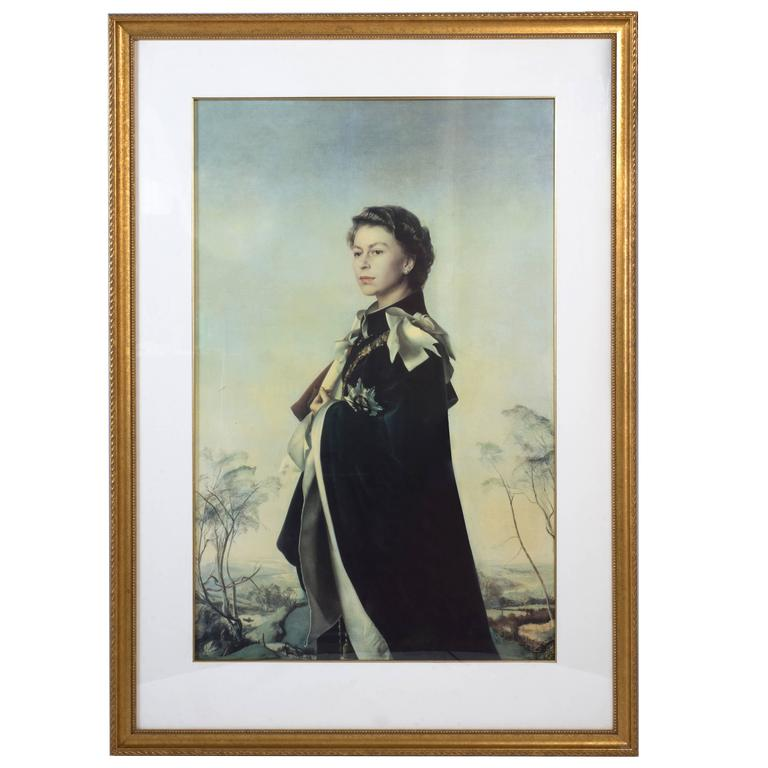 Print Of Hm Queen Elizabeth Ii By Pietro Annigoni 1955 At