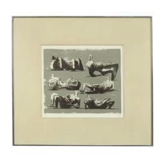 Pencil Signed and Numbered Henry Moore 1973 Lithograph