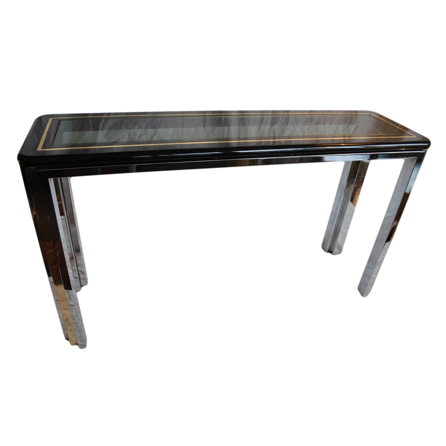 Italian 70 39 s console table at 1stdibs for Sofa table 70