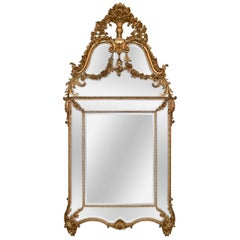 Fine French Louis XVI Giltwood Mirror