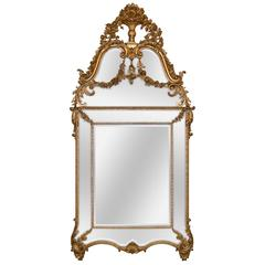 Fine French Louis XVI Giltwood Mirror