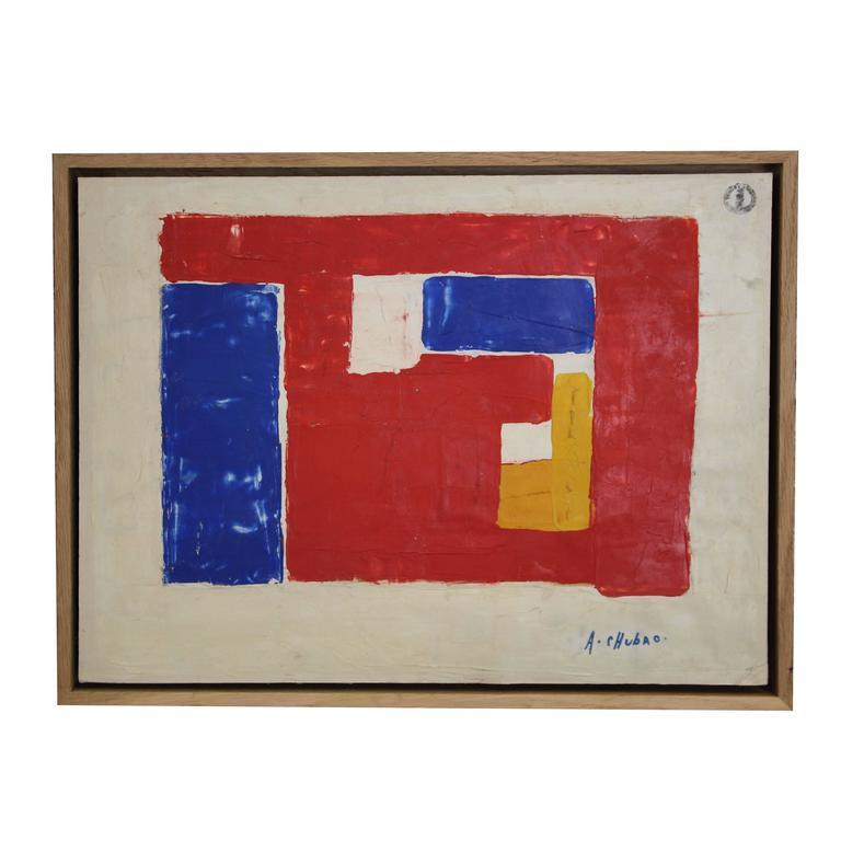 Albert Chubac, Oil on Cardboard, Signed, circa 1950, France
