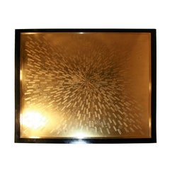 Coffee Table Etched Brass by Maud, 1984