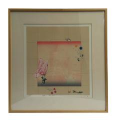 Mitsuru Watanabe Butterfly and Pagoda II Lithograph Print Edition 1 of 30