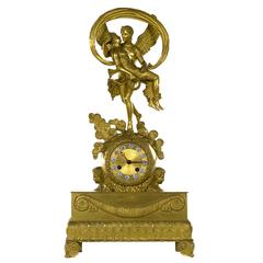 French Directoire Mantle Clock of Cupid and Psyche