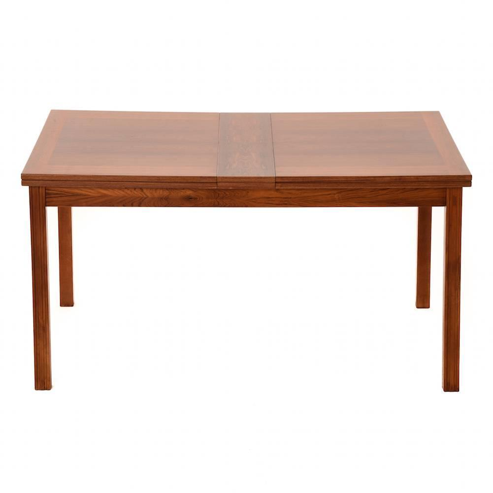 Danish modern rosewood dining extension table at 1stdibs for Modern dining room table