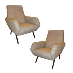 Pair of Mid-Century Club Chairs in the Style of Pierre Guariche