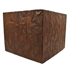 Brutalist Copper Cube Table