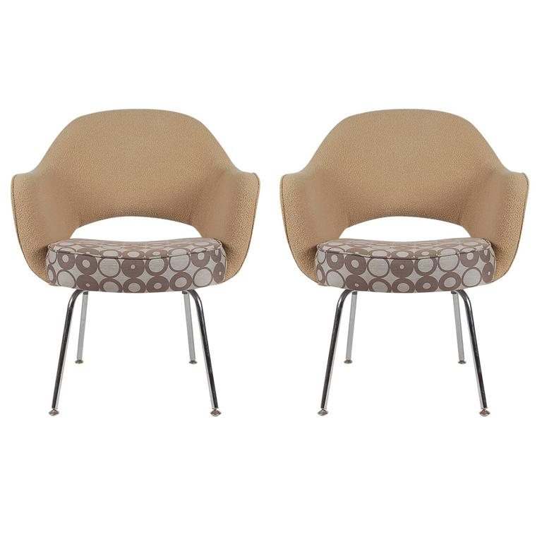 Pair Of Eero Saarinen Executive Armchairs For Knoll