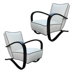 Jindrich Halabala, Pair of Art Deco Armchairs