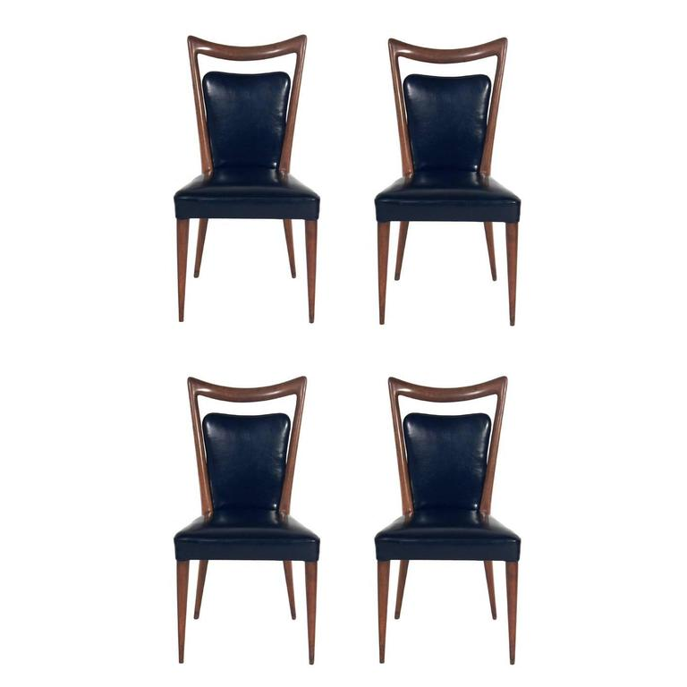 Set Of Four Italian Dining Chairs By Melchiorre Bega For Sale